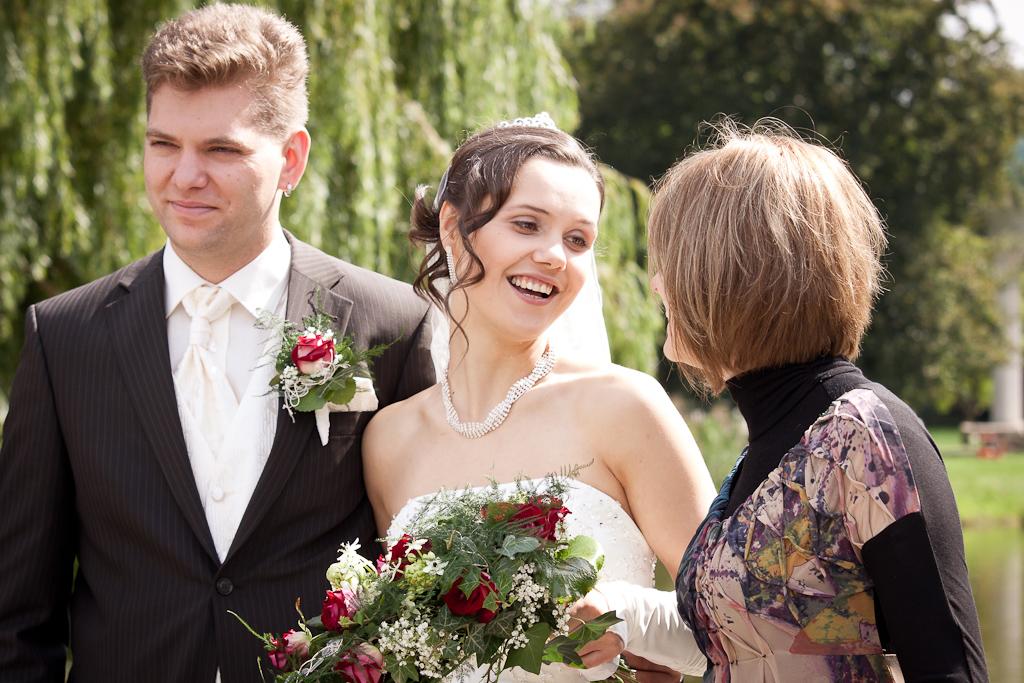 Brautpaar und Treuzeugin