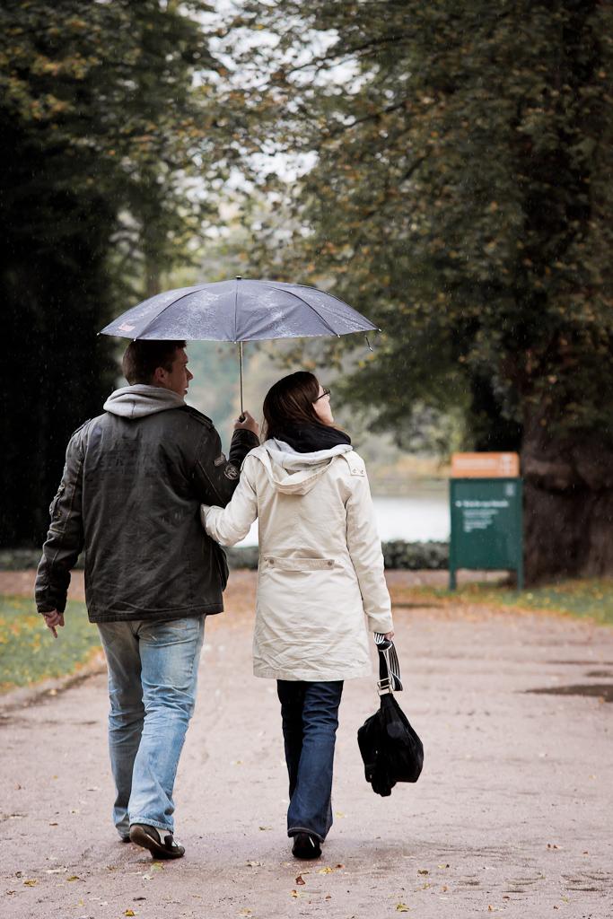 Regenschirmfoto