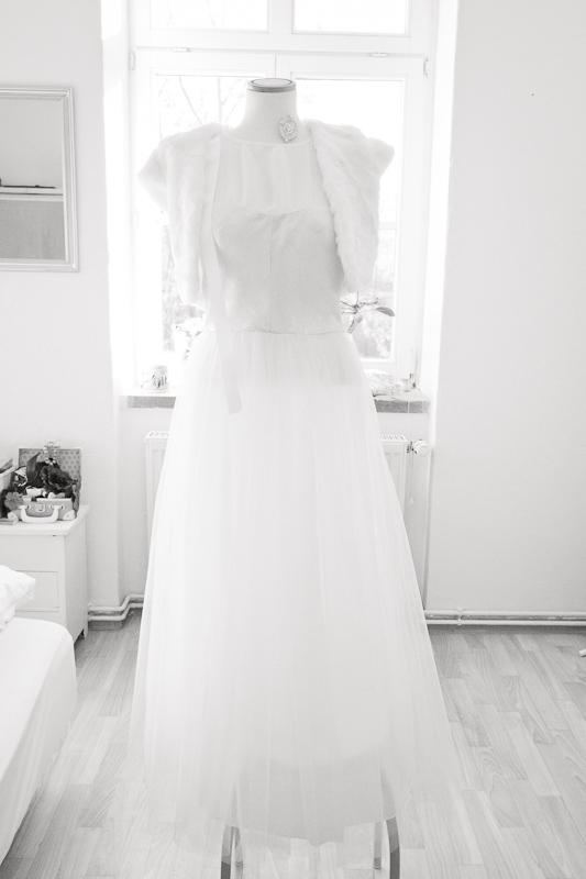 Hochzeitsvorbereitung Brautkleid