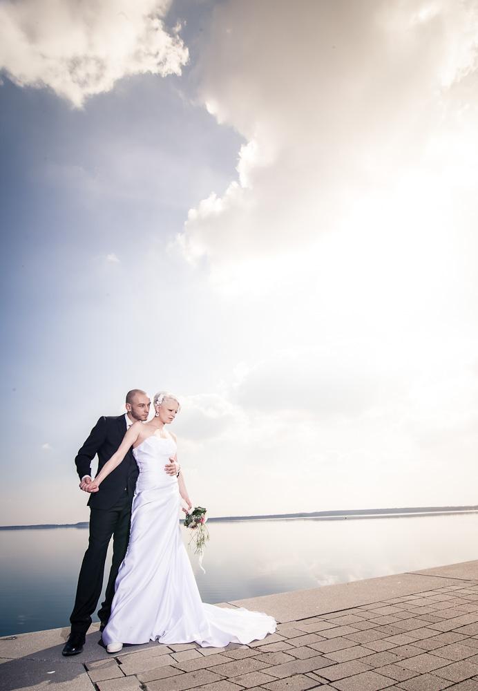 Hochzeitsbild am Goitzschesee