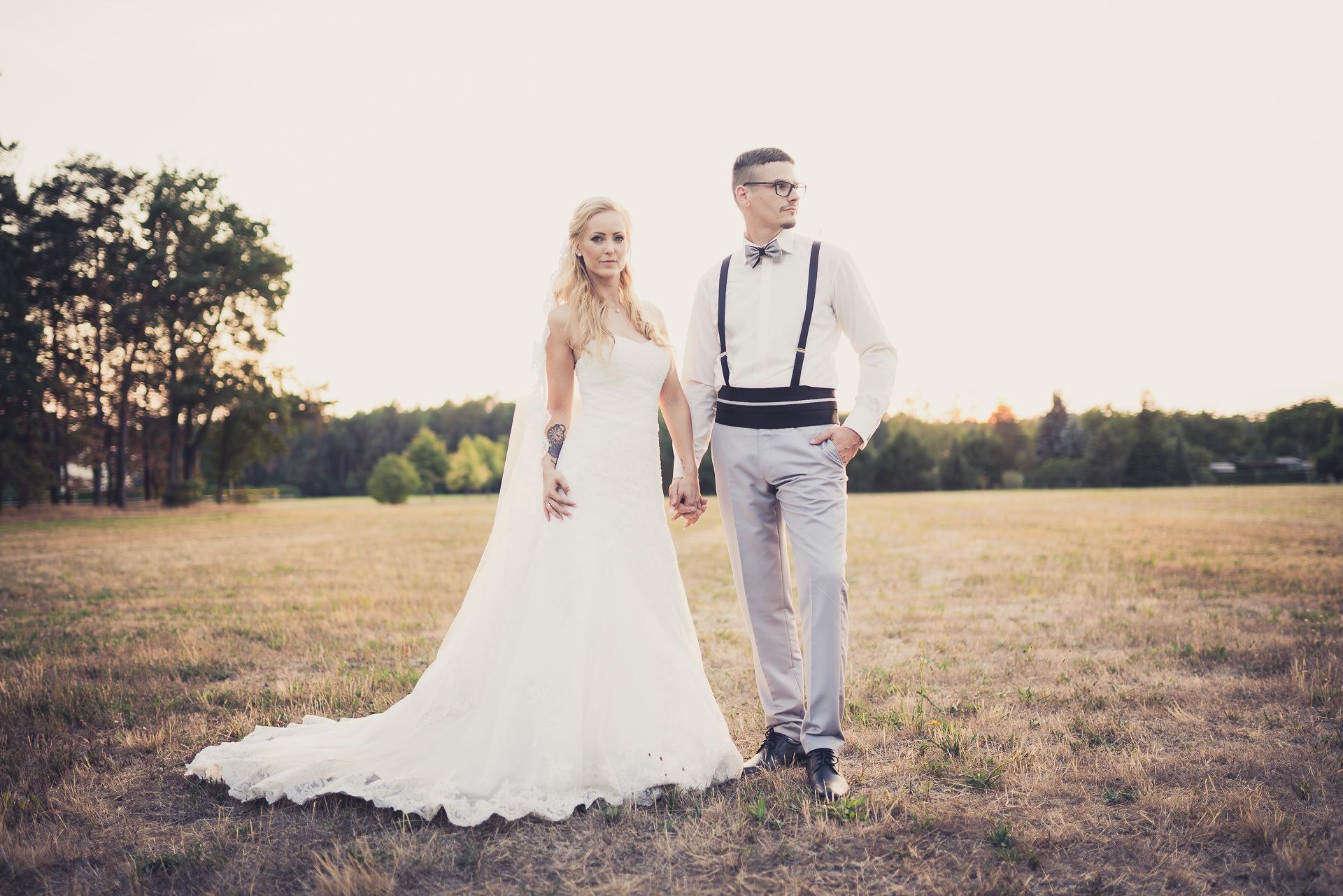 Brautpaar heiratet in Wörlitz